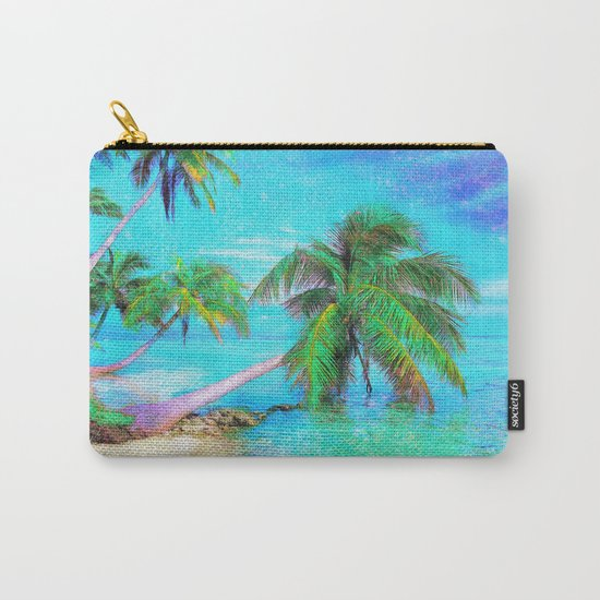 Palms on the Bay Carry-All Pouch