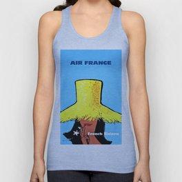Vintage Air France Poster Unisex Tank Top