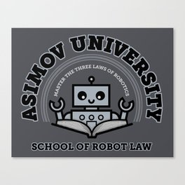 I Majored in Robot Law Canvas Print