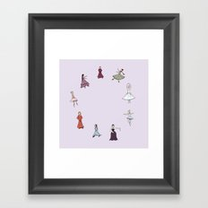 Nine Ladies Dancing Framed Art Print