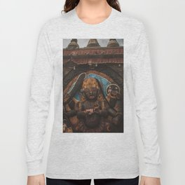 Temples and Architecture of Kathmandu City, Nepal 001 Long Sleeve T-shirt