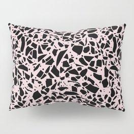 Terrazzo Spots Black on Blush Repeat Pillow Sham