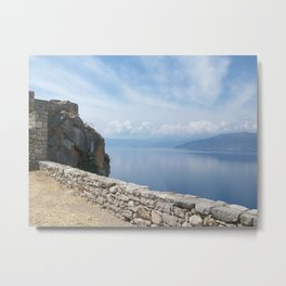 Sea & Sky in Nafplio Metal Print