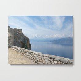 Sea & Sky in Nafplio Metal Print