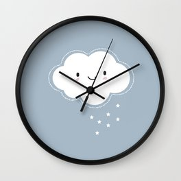 Nursery Clouds Wall Clock