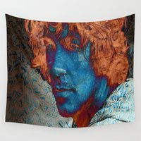 caleb troy Wall Tapestries featuring Troy by Robin Curtiss