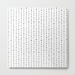 Lines, Dots and Circles - Hand Drawn Illustration, Abstract Pattern Metal Print