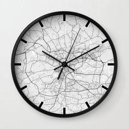 Krakow City Map of Poland - Light Wall Clock