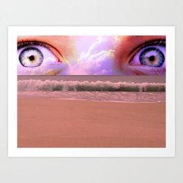water eyes Art Print