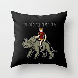 "Tri ""Michael Cera"" tops Throw Pillow"