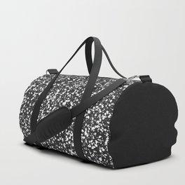 Splattered pattern in black, white and gray Duffle Bag