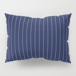 Navy Blue Pinstripes Line Pillow Sham