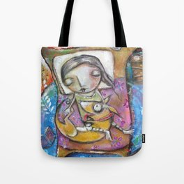 Sleepy Doggie Tote Bag
