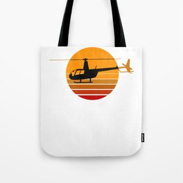 R44 Helicopter Heli Pilot Aviation Helo Tote Bag