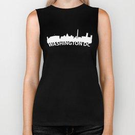 Curved Skyline Of Washington DC Biker Tank