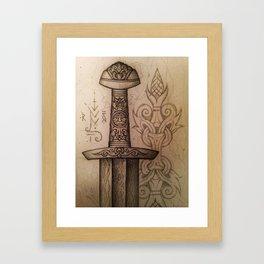 Mytho-Slavic Sword Framed Art Print