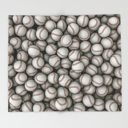 Baseballs Throw Blanket
