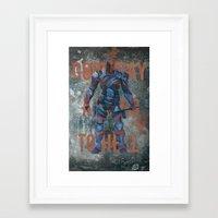 deathstroke Framed Art Prints featuring Deathstroke by BatSpats