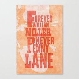 Never Penny Lane Canvas Print