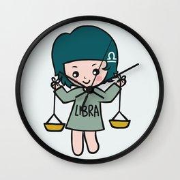 Libra girl Wall Clock