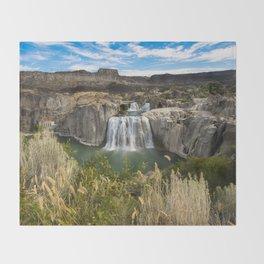 Waterfall Photography - Shoshone Falls Idaho Throw Blanket
