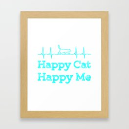 Happy cat, Happy me Colorful Framed Art Print