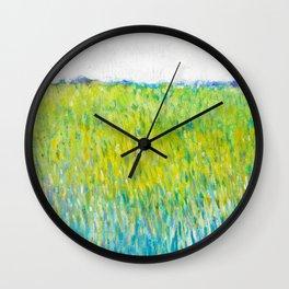 Green Field In May Wall Clock