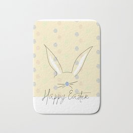 Happy Easter Postcard Bunny Ears #eastergift Bath Mat