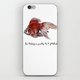 As Lacking In Privacy As A Goldfish iPhone Skin