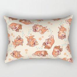 Flower Doges Rectangular Pillow