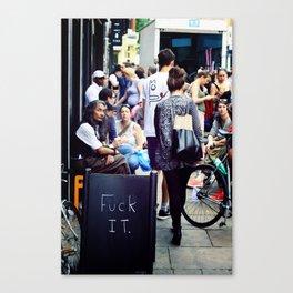 F It Canvas Print