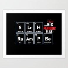 The Big (Bang) Periodic Table Art Print