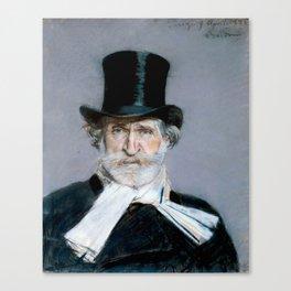 Giuseppe Verdi (1813 – 1901) by Giovanni Boldini (1842 - 1931)(2) Canvas Print