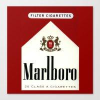 cigarettes Canvas Prints featuring cigarettes by Azrai Danial