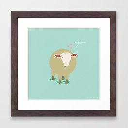Ewe Are Loved Framed Art Print