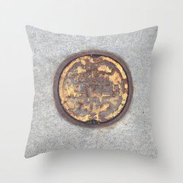 Yellow Curve Throw Pillow