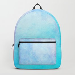 Baby Blue Pink Watercolor Texture Backpack