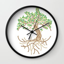 Rope Tree of Life. Rope Dojo 2017 white background Wall Clock