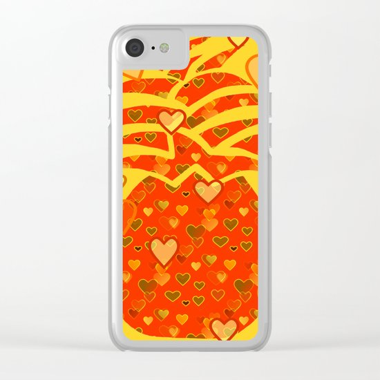 I Love Pineapple  Clear iPhone Case