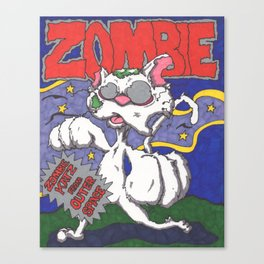 Zombie Kat Spoof Movie Poster Canvas Print