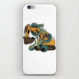 Excavator vs Anaconda iPhone Skin