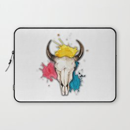 Watercolor Skull Laptop Sleeve