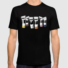 Reservoir Colours (no blood and dark colored t-shirts) Black MEDIUM Mens Fitted Tee
