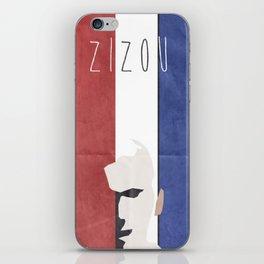 Zinedine Zidane, minimal portrait, Zizou, illustration, french football player, soccer, ballon d'or iPhone Skin