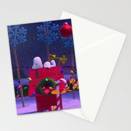 loneliness snoopy in christmas Stationery Cards