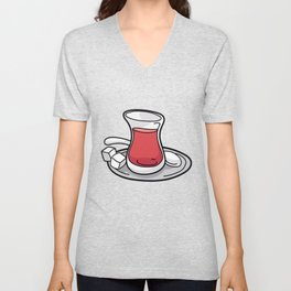 TURKISH CAY TEA teabag gift Cup Unisex V-Neck