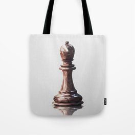 bishop low poly Tote Bag
