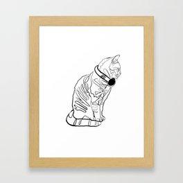 Kitten Jams Framed Art Print