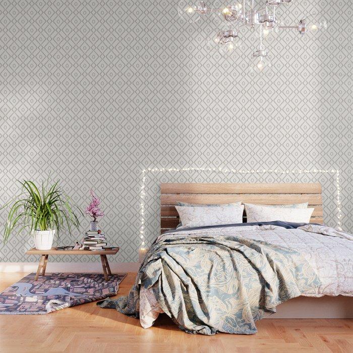 Modern Boho Ogee in Cream Wallpaper