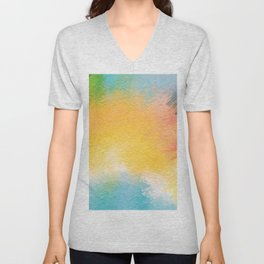 Modern Multi Color Abstract Unisex V-Neck